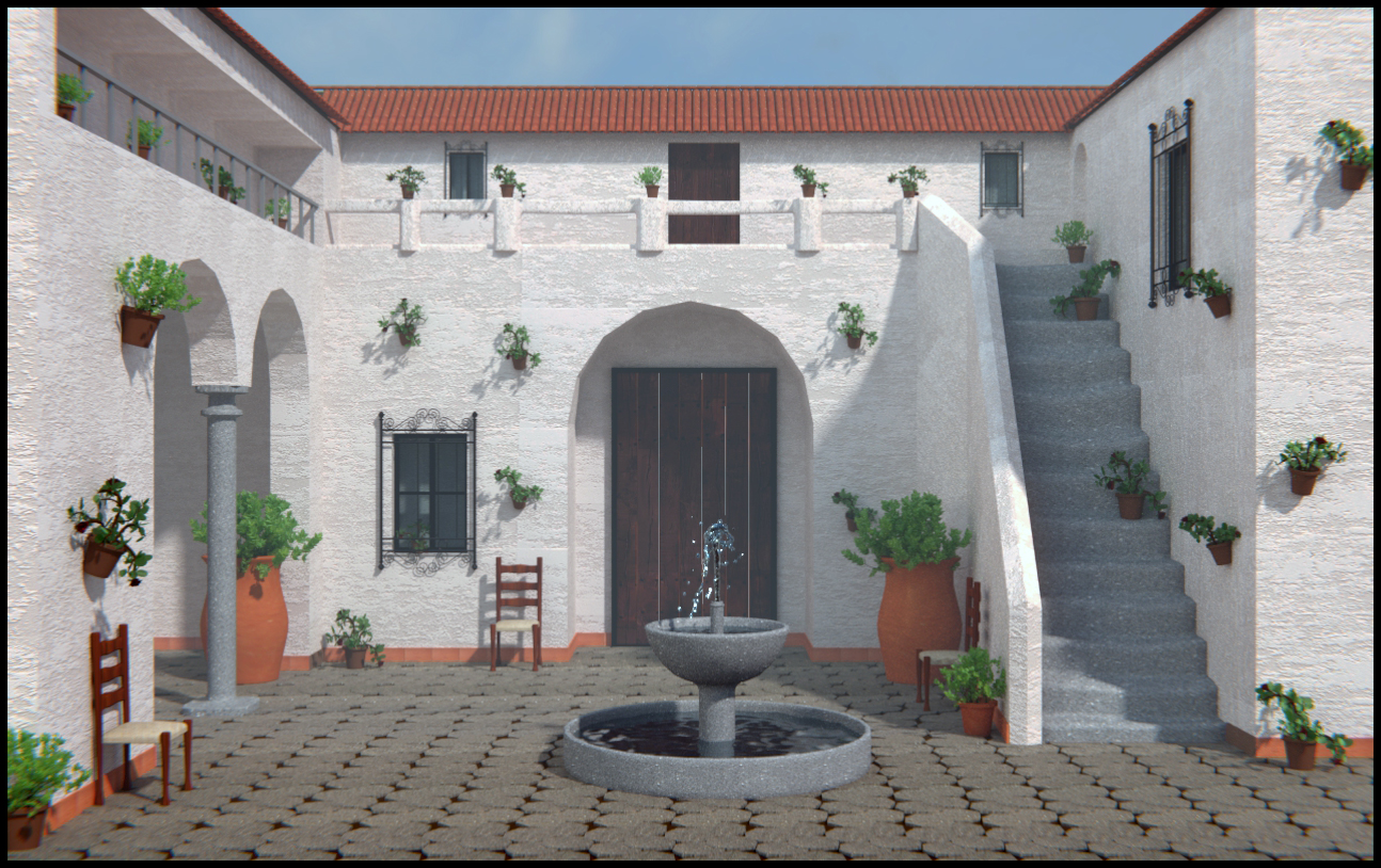 Patio andaluz skaldy3d - Patios interiores andaluces ...