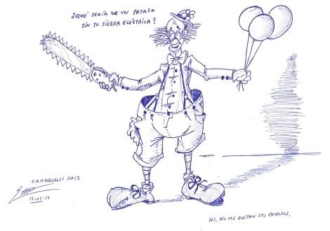 30242 - Payaso con sierra eléctrica