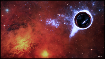 Black Hole in Red